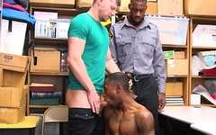 Straight White Jock And His Straight Black Twink Best Friend Have Sex To Avoid Jail