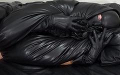 Leather mask and enjoying soft and supple leathers