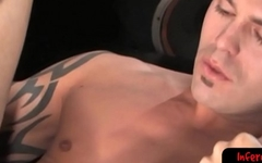 Sexy stud gets an assfull of fist