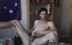 Slim Hunk Showing Off His Dick