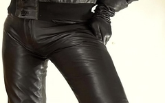 Soft casual leather pants