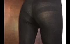 Sexy sissy in leggings and bra