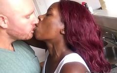 Black girl loves big white dick