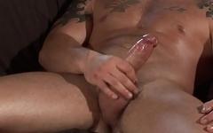 Solo english lad masturbates after stripping