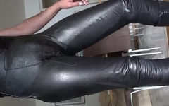 tight soft leather catsuit