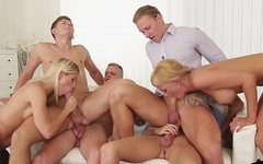 European stud fucked during group scene