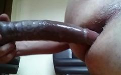 Big wet dildo Hard fuck