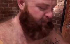 Assfucked chub cums after dicksucking