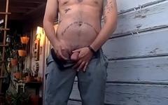 Big dick caught pissing