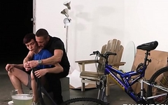 Hunk Stepdad Fucks Twink Stepson In Garage While Fixing Bicycle