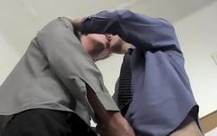 Doctor 18yo Kevin Ateah caught masturbation before bareback