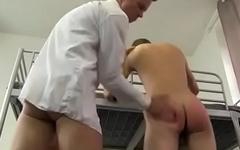cute threesome spank and fuck