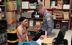 Barebacked gay shoplifter