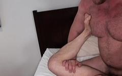 Rimmed chubby bear breeding tight stud