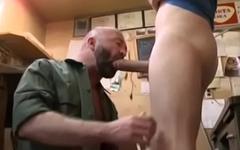 Daddy sucking big dick