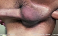 (Latin Loads) Slim twink railed by tatted muscle daddy