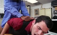 Office jock bent over desk for anal