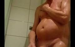 Norwegian Daddy in the shower
