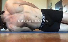 Muscular Hunk Bondage Video