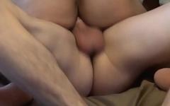 Muscular UK chav bounces on hard dick