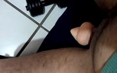 Trans male riding dildo