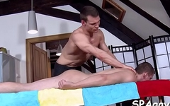 Hunk gets lusty ass fucking during massage