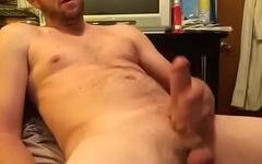 Hard dick stroking