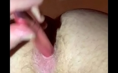 Fucking myself with an anal vibrator