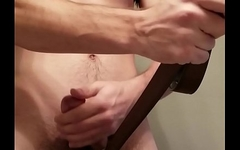Torturing my balls with a belt