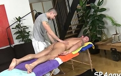 Glamorous chap is delighting twink with wild blowjobs
