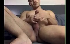 Rodopod shows asshole, jerks off and shoots cum. Rodolfo Lozano in action.