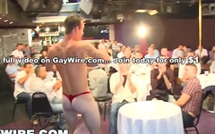 GAYWIRE - Big Dick Male Strippers Shaking Their Peckers At The Sausage Party