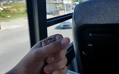 Wanking on bus - Punheta no busao