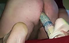 Huge dildo anal