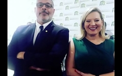 Alexandre Frontier e Joice Asselman secret party on the congresso