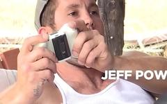 GAY-Mer threesome Brandon Evans with Jeff Powers Tobias - Bromo