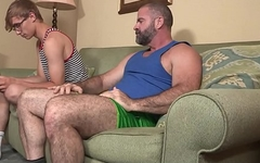 Bear Stepdad Treats His Young Stepson To Ice Cream And His Big Daddy Cock