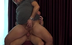 Raw dicked daddy wants to please his gifted twink lover