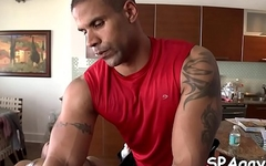 Steamy sexy massage session for horny homo stud