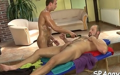 Hot twink gets his hard shlong sucked by excited gay