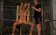Sub twink interviewed before bondage and domination