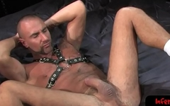 Lubed up bdsm gay wrenches forearm in deep