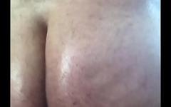 Wet oiled ass